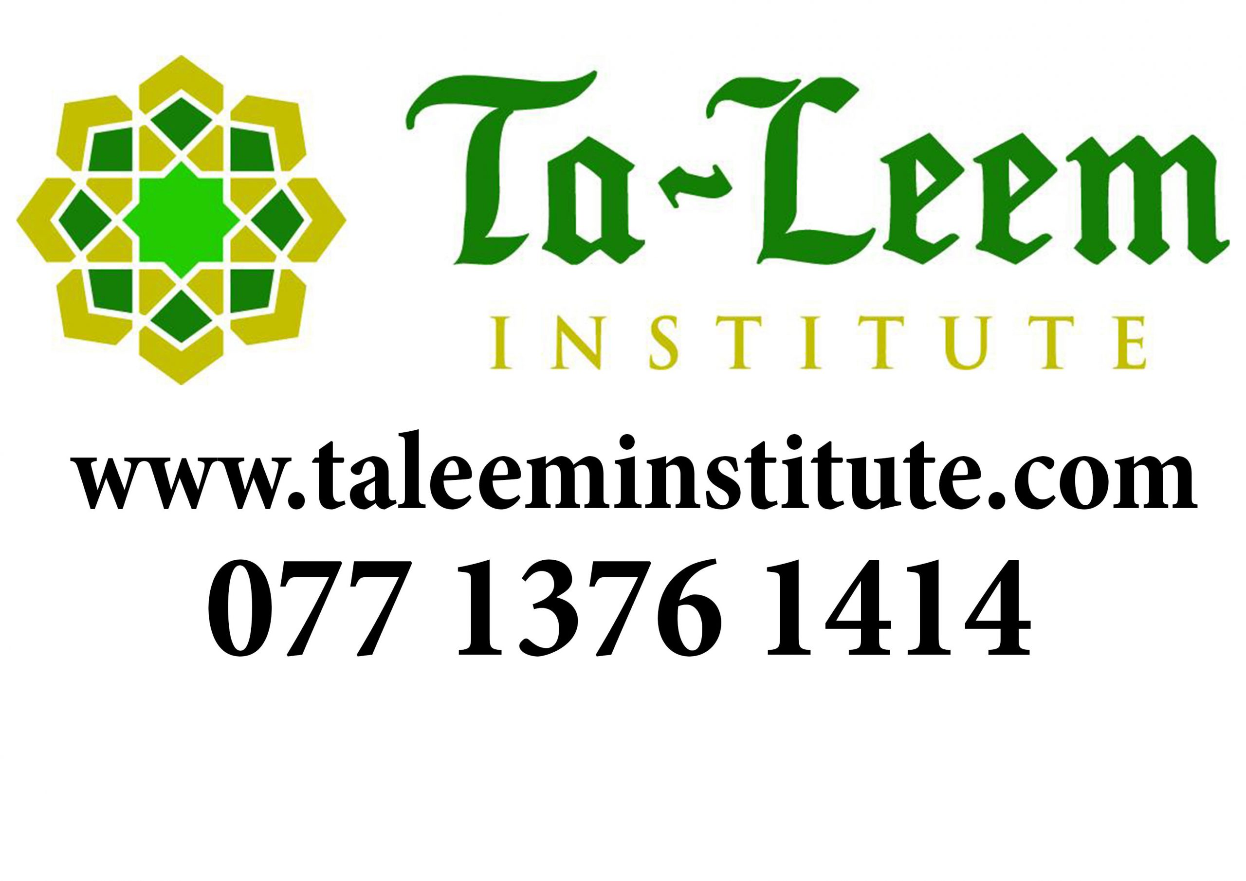 Welcome to Taleem Institute