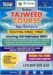 Taleem Sisters Tajweed Class