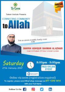 Taleem Family Event With Shaykh Ashiqur Rahman This 27 Feb 2021