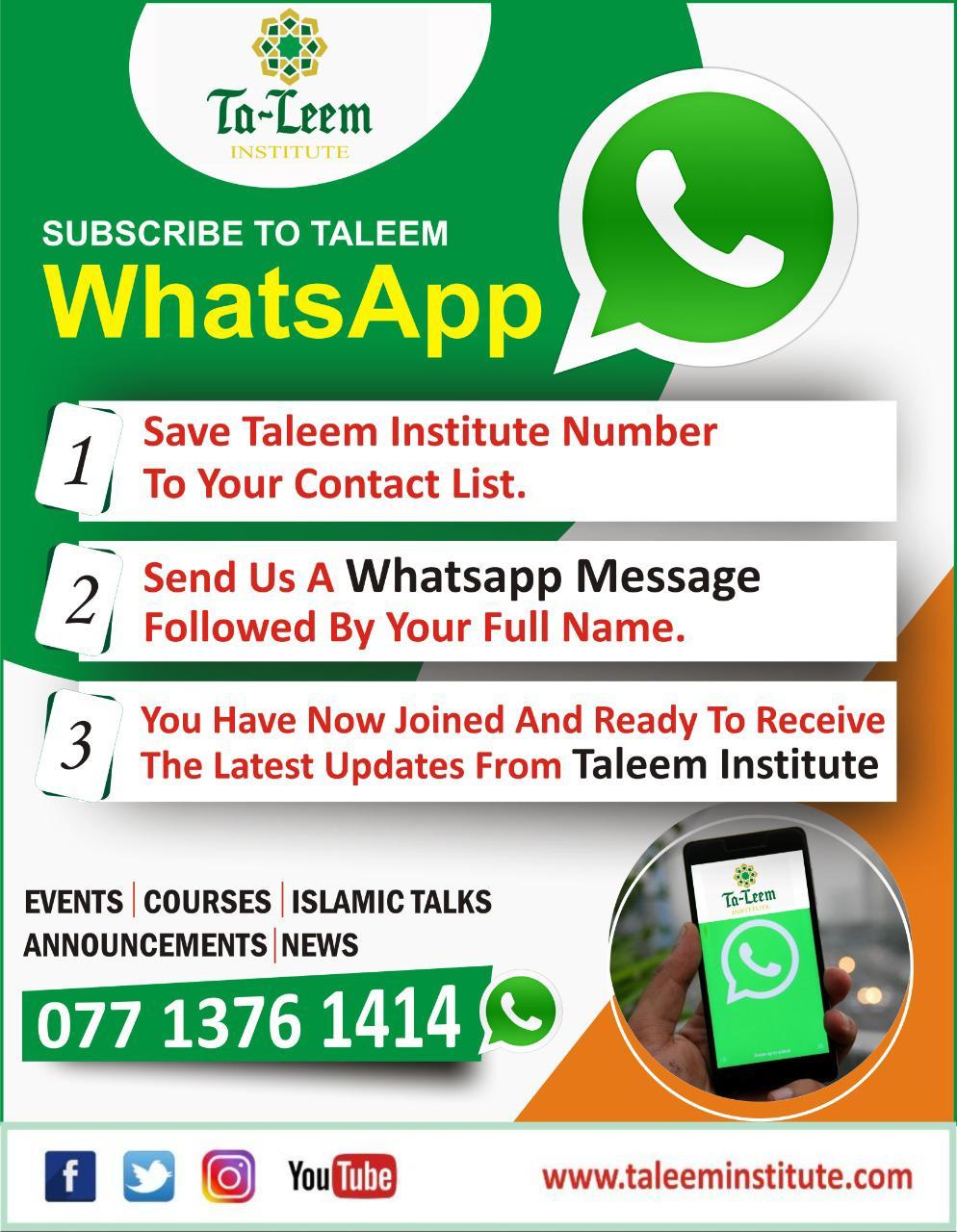 Taleem WhatsApp Broadcast List