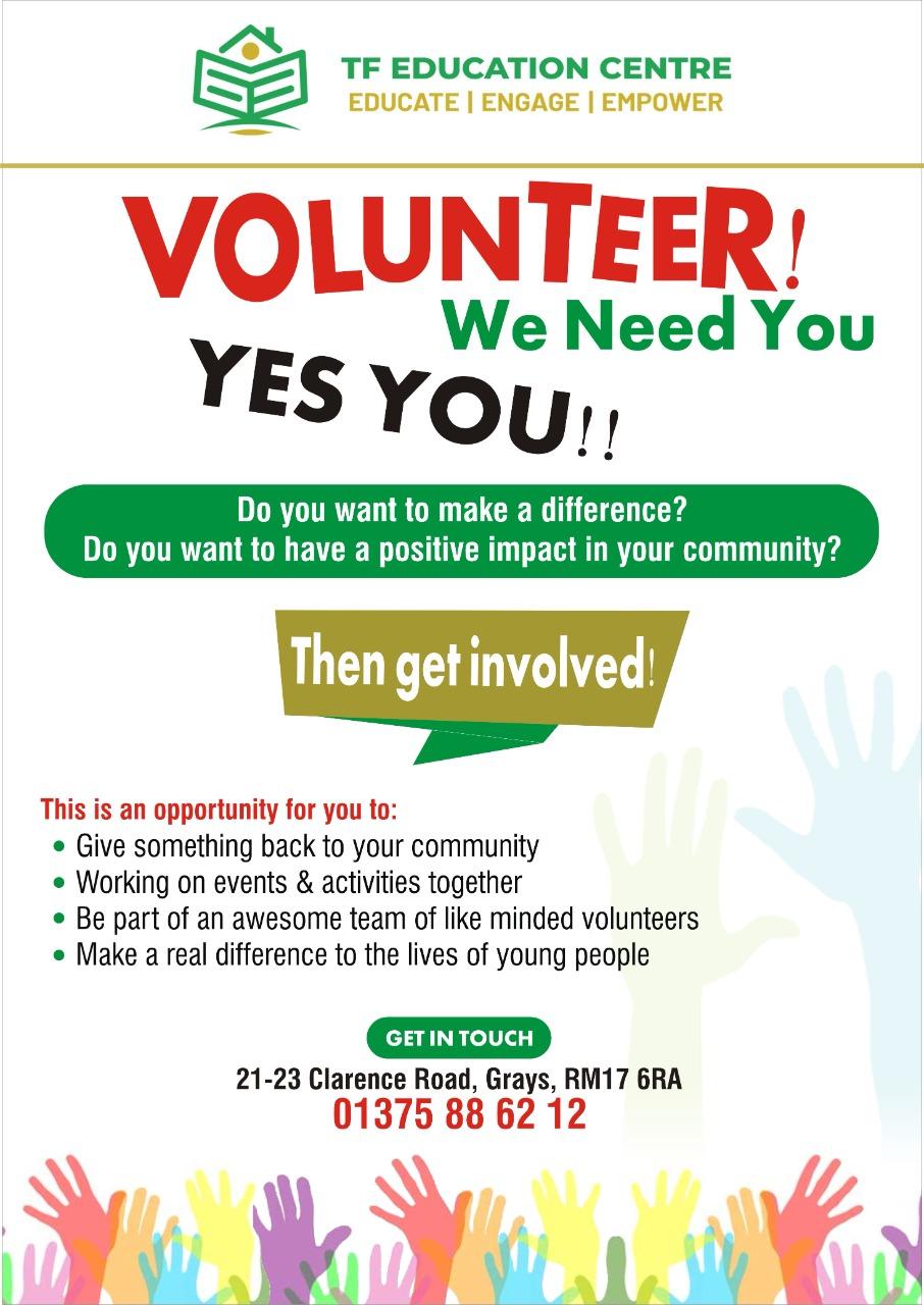 Volunteer, We Need You!!