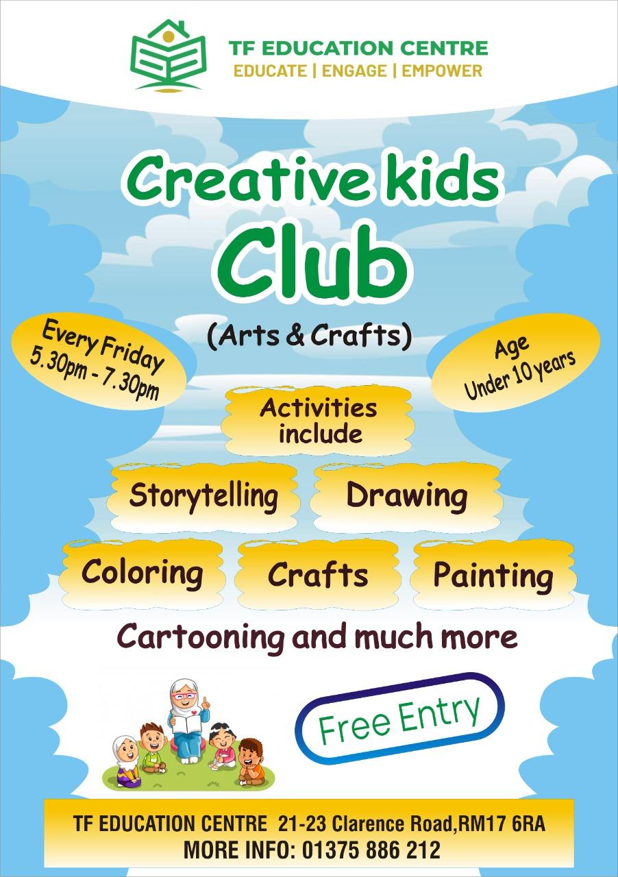 Creative Kids Club (Arts & Crafts)